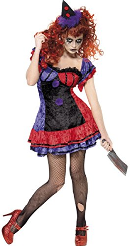 oween Fancy Kleid Cirque Sinister Bo Bo der Clown Kostüm Outfit (Halloween Clown Outfits)