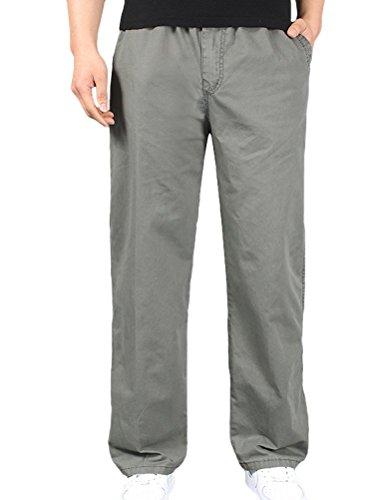 MatchLife-Pantaloni da donna, stile Casual, con pantaloni lunghi Style2-Armee Grün