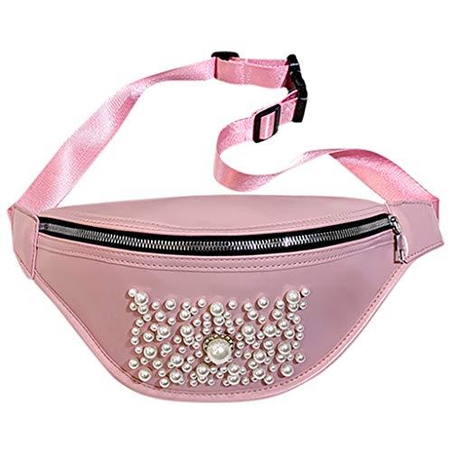 friendGG Neue Frauen Im Freien Einfarbig Perle ReißVerschluss UmhäNgetasche Sport Brusttasche GüRteltasche UmhäNgetaschen Schultertaschen Rucksack Taschen Handtaschen Tasche