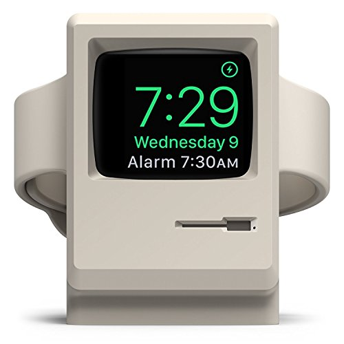 elago W3 Soporte [Modo de Soporte Nocturno] [Estaciones de Carga] Compatible con Apple Watch Series 1, 2, 3 / 38mm, 42mm - Blanco