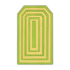 Sizzix 658611 Framelits Pack de 9 Matrices de Découpage Tags #2 de Paula Pascual 25,7 x 15,7 x 0,8 cm