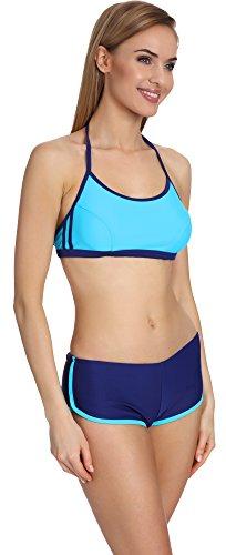 Lorin Zweiteiliger Damen Schwimmanzug 4100 Blau/Hellblau