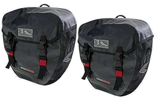 M-Wave Doppelpacktasche Alberta 2 x 20 ltr wasserdicht, schwarz