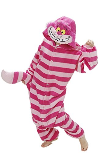 Funkey-Munkey Unisex Cosplay Pyjamas Costume Hoodies Animal Fancy Dress (Large, Cheshire Cat) (Party Animal Fancy Dress Kostüm)