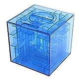 Nalmatoionme Money Maze Tirelire 3d puzzle Boîte cadeau Prix support de stockage (Bleu)