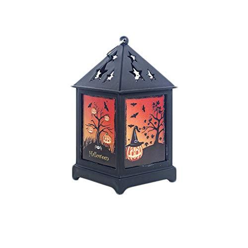 SilenceID Weinlese-Art-Laterne-Halloween-Hexe-Kürbis-Licht-Partei-Tür-Raum-Dekoration, die flackernde Laterne-dekorative Retro- Lampe übergibt -