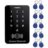Jiobapiongxin M203SE RFID Standalone Touchscreen Zutrittskontrolle-Kartenleser mit 10 Stück Schlüssel