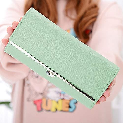Lange Umschlag Handtasche Brieftasche Damen Leder Schnalle Mode Brieftasche Handy Brieftasche kartenhalter Brieftasche 10x21 cm 5 -