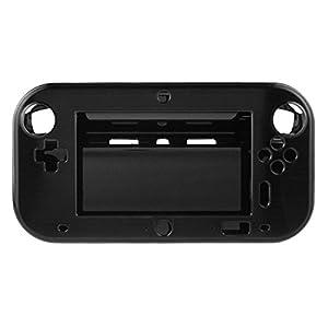 OSTENT Anti-Schock Hard Aluminum Box Cover Case Shell kompatibel für Nintendo Wii U Gamepad Farbe Schwarz