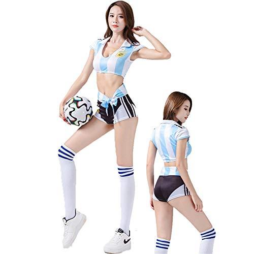 MCO%SISTSR Cheerleader-Kostüm,Mädchen Team Uniform Set Sexy Shorts Fußball High School Musik Bekleidung Sportverein Sports Bar Show,Stil ()