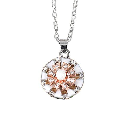 ODJOY-FAN Damen Halskette Blume Tropfendes Öl Klavikulärkette Diamant -