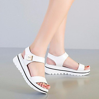 Sandales femmes Confort Printemps occasionnels de PU White