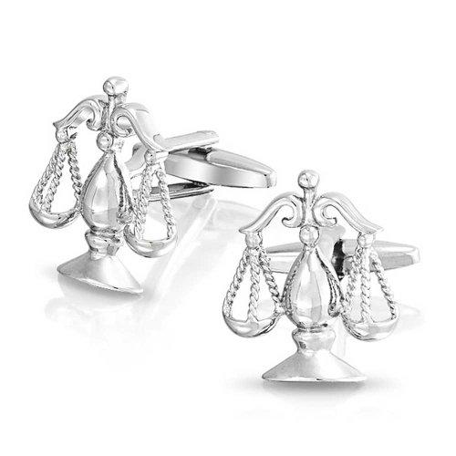 Bling Jewelry Juridique Avocat Juge Balance De La Justice Homme Chemise Boutons De Manchette en Acier Inoxydable Ton Argenté Charnière