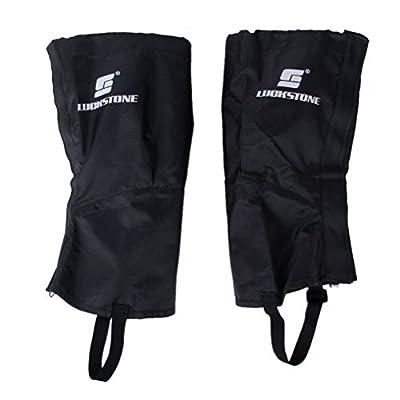 Ein paar Unisex ultraleichte wasserdichte atmungsaktive Outdoor Ski Wandern Klettern Jagd Schnee Legging Gamaschen Bein Boot Cover - Größe L (schwarz)
