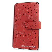 Wallet 'Agatha Ruiz De La Prada'red - perforated hearts (l).