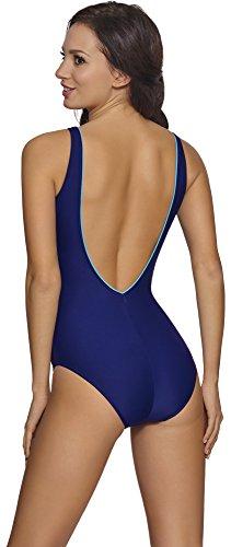 aQuarilla Costume da Bagno Intero per Donna Modena Blu Scuro/Blu