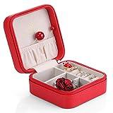 Vlando Petit Faux cuir Voyage Box Organisateur vitrine de stockage des bijoux pour Anneaux Collier Boucles d'oreilles ¡