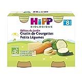 HiPP Biologique Gratin de Courgettes Petits Légumes pots 2 x 190 g dès 8 mois