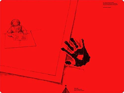 Schreibtischauflage für Linkshänder - Pop-Rot