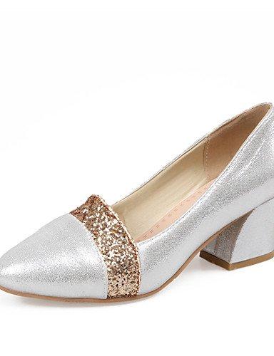 WSS 2016 Chaussures Femme-Habillé / Soirée & Evénement-Noir / Rouge / Argent-Gros Talon-Bout Pointu-Talons-Similicuir red-us8.5 / eu39 / uk6.5 / cn40