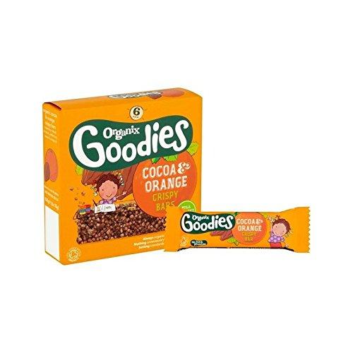 Organix Goodies Cacao Et D'Orange Croustillant Bar 6 X 18G - Paquet de 6