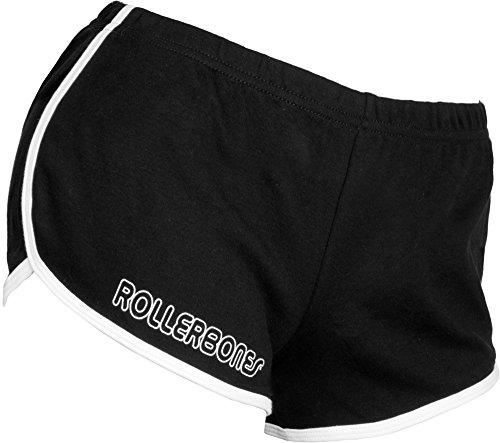 Rollerbones Damen Booty Shorts Derby Räder schwarz/regenbogen
