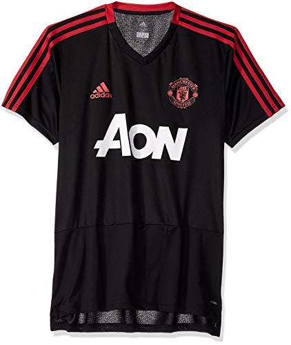 Manchester United-fan Gear (adidas Herren Club Soccer Training Trikot, Herren, Soccer Manchester United FC Training Jersey, schwarz, X-Small)