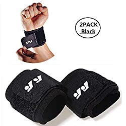 DSTong wrist bandages wrist support, wrist bandage for fitness, bodybuilding, weight training & crossfit - for women and men (style 2 / 2pack)
