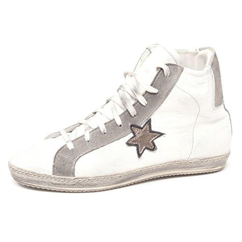 B2914 sneaker uomo STOKTON scarpa bianco/grigio shoe man [40]