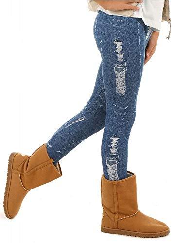 Dykmod Mädchen Warm Thermo Leggings Leggins Winter Muster Jeans Optik 116-158, Jeans-optik, 116