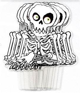 Halloween Kunststoff Picks Muffin Cup Cake Dekoration Party Essen Topper Flagge Käse Cocktail Sticks Label 12 Skeleton Halloween (Cupcake Picks Uk Halloween)