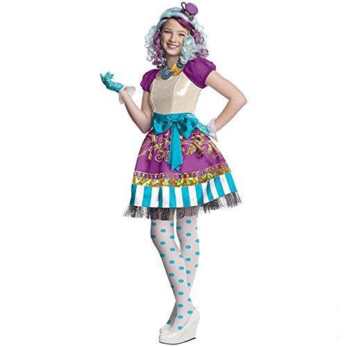 Hutmachers Tochter Madeline Hatter Gr. XL (10-12 Jahre) Fasching Karneval Kostüm Kinderkostüm Mottoparty Kleid (Madeline Hatter Kostüme)