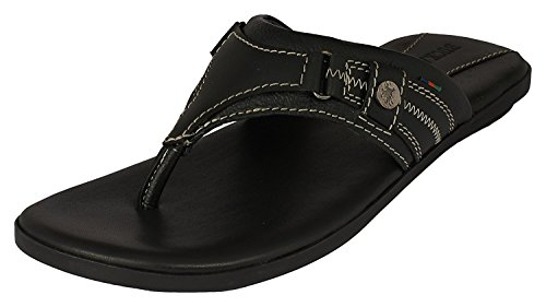 Buckaroo Men's Paxton Black Leather Hawaii Thong Sandals - 8 UK/India (42 EU)  available at amazon for Rs.758