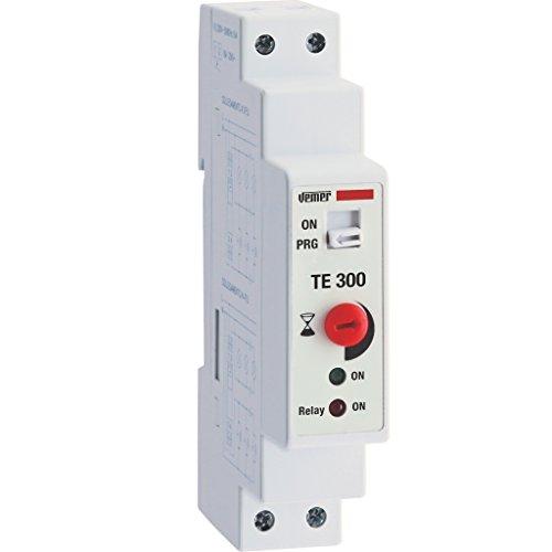 Vemer VE766700 Temporizzatore Automatico Luci Scale Te 300 da Barra DIN, Bianco