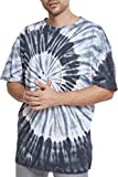Urban Classics Herren T-Shirt Spiral Tie Dye Pocket Tee, Mehrfarbig (Blk/Gry/Wht 00574), XL