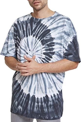 Urban classics spiral tie dye pocket tee t-shirt, mehrfarbig (blk/gry/wht 00574), m uomo