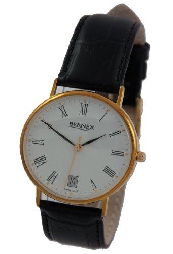 Bernex BN11604 - Reloj de pulsera hombre, oro amarillo, color dorado
