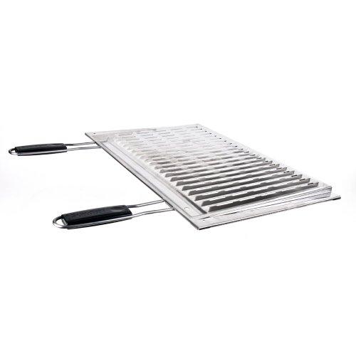 Sunday grill Griglia Biologica In Acciaio Inox Con Manici Inox 67X40