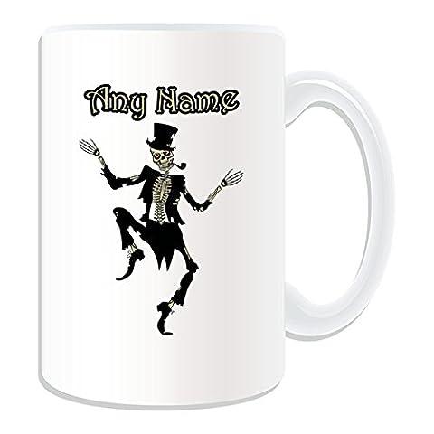 Costumes Childs Squelette - Cadeau personnalisé Motif squelette danse Costume Mug