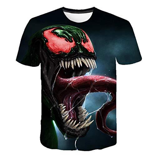6a81d9a7306b Venom 3D T-Shirt, Girocollo Manica Corta Uomo T-Shirt Superman T-