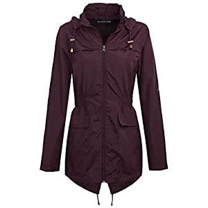 MyShoeStore Ladies Women Rain Mac Raincoat Showerproof Fishtail Cagoule Kagool Kagoul Kag Festival Parka Jacket Hooded Lightweight Shower Proof Rain Coat Plus Big Sizes 8-24