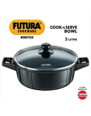 Hawkins Futura Non-Stick Cook N Serve Bowl with Glass Lid
