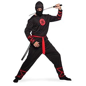 Folat 64007 - Disfraz de ninja para hombre, color negro, XL/XXL