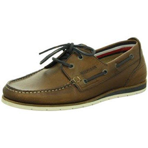 Tommy Hilfiger  Coast 1a, Chaussures de ville à lacets pour homme marron - café