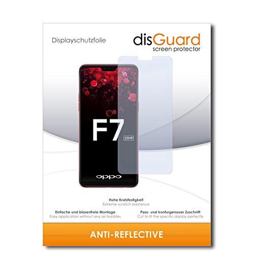 disGuard® Bildschirmschutzfolie [Anti-Reflex] kompatibel mit Oppo F7 [2 Stück] Entspiegelnd, Matt, Antireflektierend, Extrem Kratzfest, Anti-Fingerabdruck - Panzerglas Folie, Schutzfolie