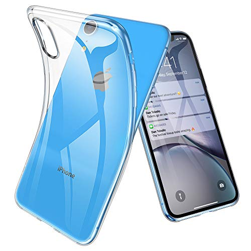 Joyguard Coque iPhone XR, Ultra Mince Premium TPU Souple Silicone Plating Coquille [Crystal Clear]...