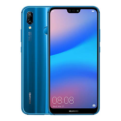 "Huawei P20 Lite - Pack de funda y smartphone de 5.84"" (Octa-Core Kirin 659, RAM de 4 GB, memoria de 64 GB, cámara de 16+2 MP, Android 8) color azul [Exclusivo Amazon]"