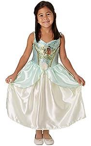 Rubies - Tiana de princesa Disney con lentejuelas, talla pequeña, para niños de 7 a 8 años, altura 128 cm
