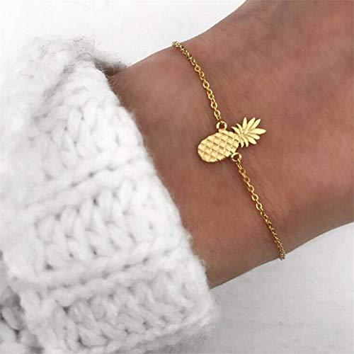 NYAOLE Armband mit Frucht-Ananas-Anhänger, verlängerte Kette für Damen, Schmuck für Mädchen, Liebesgeschenk Siehe Produktbeschreibung Gold Color