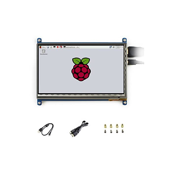 Waveshare 7 inch C LCD 1024*600 Rev2 1 Touch Screen Windows 10 HDMI  interface Capacitive Monitor Display For Raspberry Pi3B+/3/2 B/B+/A